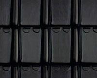toiture en tuile noir émaillé